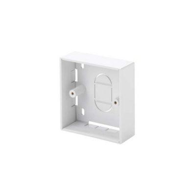1 Gang White PVC Backbox 21mm LB3