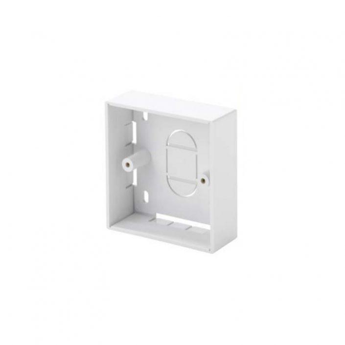 1 Gang White PVC Backbox 21mm LB3