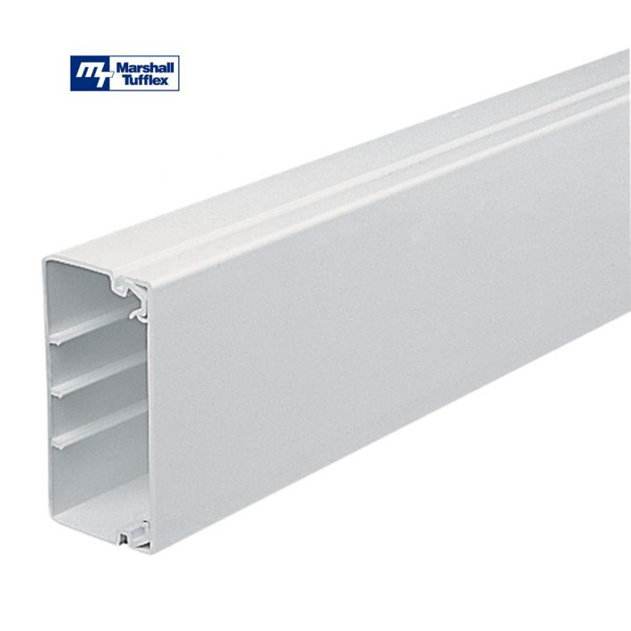 Marshall Tufflex 100x50mm White PVC-U Maxi Trunking MTRS100/50WH