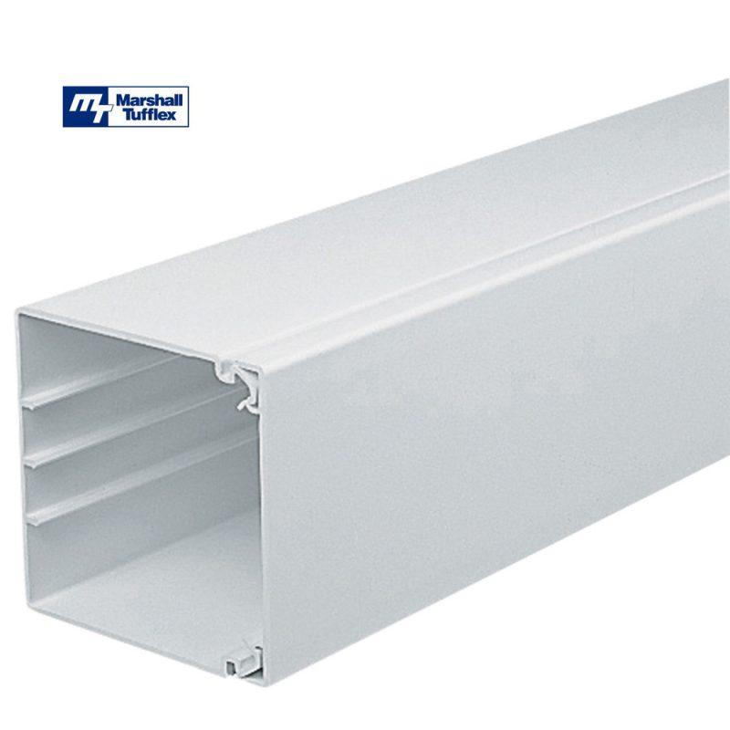 Marshall Tufflex 100x100mm White PVC-U Maxi Trunking MTRS100WH