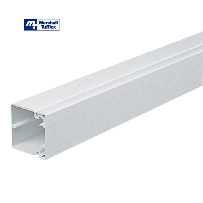 Marshall Tufflex 50x50mm White PVC-U Maxi Trunking MTRS50WH