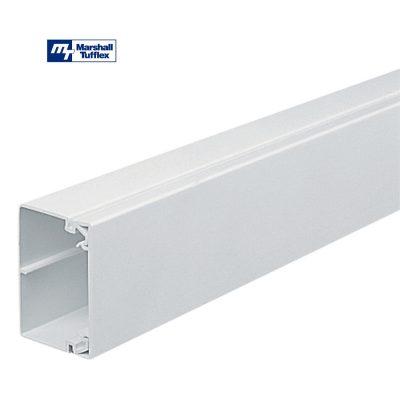 Marshall Tufflex 75x50mm White PVC-U Maxi Trunking MTRS75/50WH