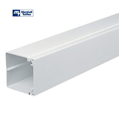 Marshall Tufflex 75x75mm White PVC-U Maxi Trunking MTRS75WH