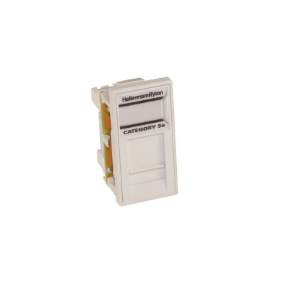 HellermannTyton Easy Clip Cat5e Shielded Euro Module White EC08KBC5ESLD-WH