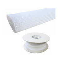 Braided Sleeving 28x47mm White LSZH