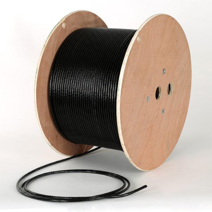 Cat5e SWA Solid U/UTP PE External Black LAN Cable x50mtr