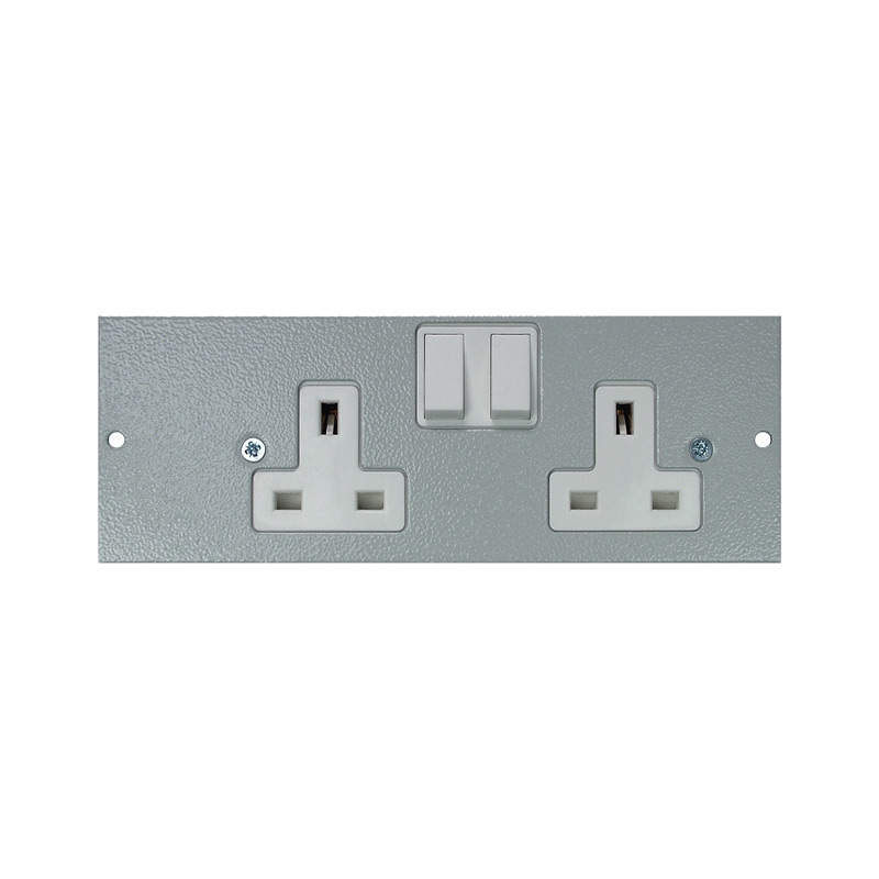 4 Compartment – Right Hand Side Wired Twin Switched Socket Plate