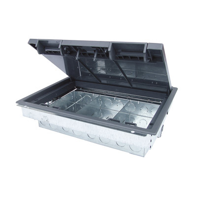 Floor Box 3 or 4 Compartment 80mm Deep RCD Compatible