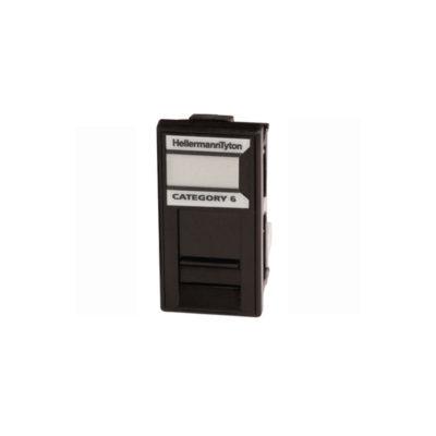HellermannTyton Easy Clip GigaBand Cat6 UTP Euro Module Black EC08IDCNGB-BK