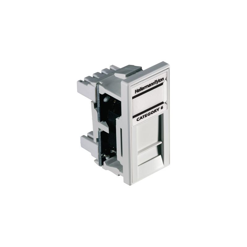 HellermannTyton Easy Clip GigaBand Cat6 UTP Euro Module White EC08IDCNGB-WH