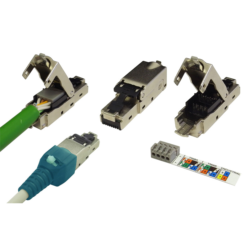 RJ45 STP Field Termination Plug For Cat6a Cable
