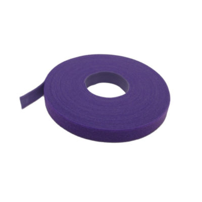 VELCRO® Brand Cable Tie 16mm x 25 Metre Roll Purple