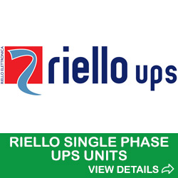 riello single phase ups units