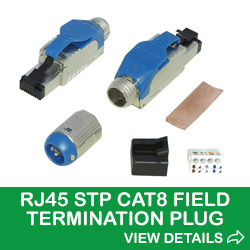 RJ45 STP Field Termination Plug For Category 8 Cable
